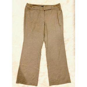 WHBM Modern Bootcut Brown Dress Pants